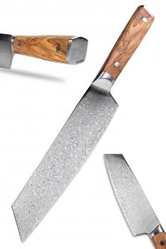Shoko - Kiritsuke Chef Damastkochmesser mit Olivenholzgriff