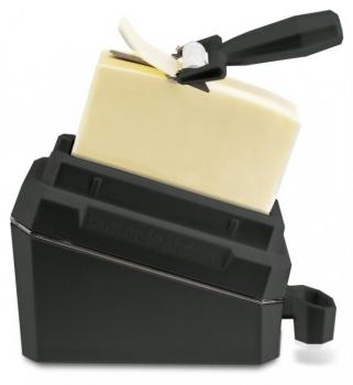 Butter - Leaf in Anthrazit-Grau   Butter perfekt geschnitten   Butterdose und Buttermesser   bekannt aus dem TV